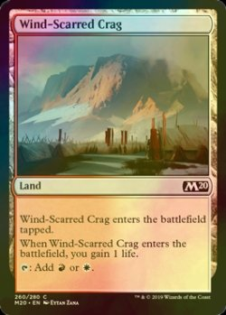 画像1: [FOIL] 風に削られた岩山/Wind-Scarred Crag 【英語版】 [M20-土地C]