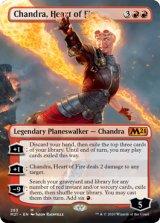 炎の心、チャンドラ/Chandra, Heart of Fire No.283 (拡張アート版) 【英語版】 [M21-赤MR]《状態:NM》