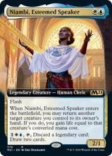 尊敬される語り手、ニアンビ/Niambi, Esteemed Speaker (拡張アート版) 【英語版】 [M21-金R]《状態:NM》
