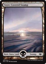 冠雪の沼/Snow-Covered Swamp 【英語版】 [MH1-土地C]