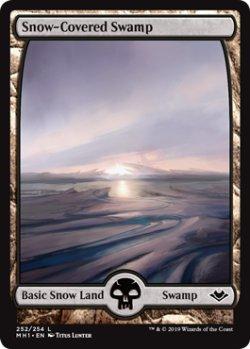 画像1: 冠雪の沼/Snow-Covered Swamp 【英語版】 [MH1-土地C]