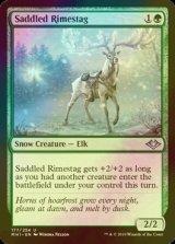 [FOIL] 鞍載せ霧氷鹿/Saddled Rimestag 【英語版】 [MH1-緑U]