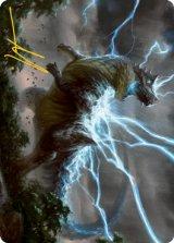 [アート・カード] 大嵐の咆哮、スラスタ/Thrasta, Tempest's Roar No.041 (箔押し版) 【日本語版】 [MH2-トークン]