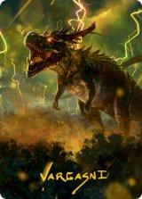 [アート・カード] 大嵐の咆哮、スラスタ/Thrasta, Tempest's Roar No.042 (箔押し版) 【日本語版】 [MH2-トークン]