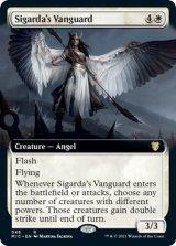 シガルダの先兵/Sigarda's Vanguard (拡張アート版) 【英語版】 [MIC-白R]