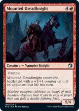馬上の戦慄騎士/Mounted Dreadknight 【英語版】 [MID-赤C]
