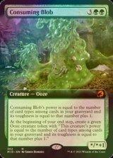 [FOIL] 消化の泥塊/Consuming Blob (拡張アート版) 【英語版】 [MID-緑MR]