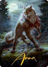 [アートカード] 月の憤怒、アーリン/Arlinn, the Moon's Fury No.002 (箔押し版) 【英語版】 [MID-トークン]