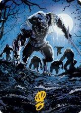 [アートカード] 深夜の災い魔、トヴォラー/Tovolar, the Midnight Scourge No.008 (箔押し版) 【英語版】 [MID-トークン]