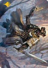 [アートカード] 粗暴な聖戦士/Brutal Cathar No.013 (箔押し版) 【英語版】 [MID-トークン]