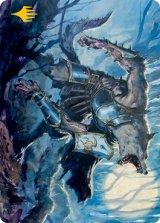 [アートカード] 月憤怒の粗暴者/Moonrage Brute No.014 (箔押し版) 【英語版】 [MID-トークン]