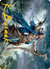 [アートカード] 溺神の信奉者、リーア/Lier, Disciple of the Drowned No.025 (箔押し版) 【英語版】 [MID-トークン]