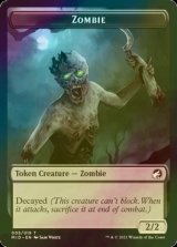 [FOIL] ゾンビ No.005/Zombie No.005 【英語版】 [MID-トークン]