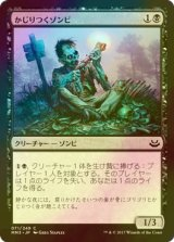 [FOIL] かじりつくゾンビ/Gnawing Zombie 【日本語版】 [MM3-黒C]