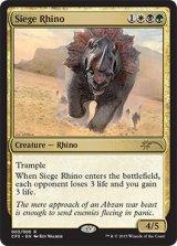 [FOIL]包囲サイ/Siege Rhino 【英語版】[プロモR]