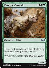 激昂した角獣/Enraged Ceratok 【英語版】  [RNA-緑U]《状態:NM》