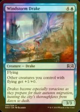 [FOIL] 暴風のドレイク/Windstorm Drake 【英語版】 [RNA-青U]