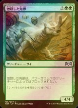 [FOIL] 激昂した角獣/Enraged Ceratok 【日本語版】 [RNA-緑U]