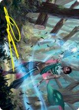 [アート・カード] 龍護りの精鋭/Dragonsguard Elite No.015 (箔押し版) 【英語版】 [STX-トークン]