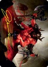 [アート・カード] 血の化身の目覚め/Awaken the Blood Avatar No.020 (箔押し版) 【英語版】 [STX-トークン]