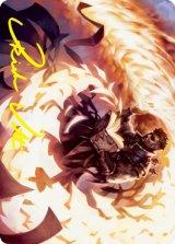 [アート・カード] 炎巻物の祝賀者/Flamescroll Celebrant No.036 (箔押し版) 【英語版】 [STX-トークン]