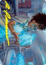 [アート・カード] クアンドリクスの神童、ジモーン/Zimone, Quandrix Prodigy No.046 (箔押し版) 【英語版】 [STX-トークン]