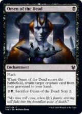 死者の神のお告げ/Omen of the Dead 【英語版】 [THB-黒C]《状態:NM》