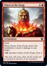 鍛冶の神のお告げ/Omen of the Forge 【英語版】 [THB-赤C]《状態:NM》