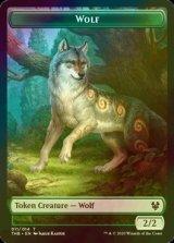 [FOIL] 狼/Wolf 【英語版】 [THB-トークン]
