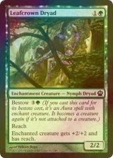 [FOIL] 葉冠のドライアド/Leafcrown Dryad 【英語版】 [THS-緑C]