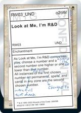 Look at Me, I'm R&D 【英語版】 [UND-白R]