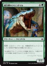 護法鱗のクロコダイル/Wardscale Crocodile 【日本語版】  [WAR-緑C]《状態:NM》