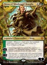 影さす太枝のニッサ/Nissa of Shadowed Boughs (全面アート版) 【英語版】 [ZNR-金MR]
