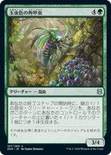 玉虫色の角甲虫/Iridescent Hornbeetle 【日本語版】 [ZNR-緑U]《状態:NM》