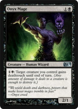 画像1: 縞瑪瑙の魔道士/Onyx Mage 【英語版】 [M12-黒U]